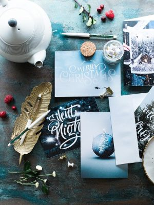christmas, greeting cards, still life